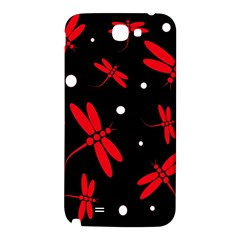 Red, black and white dragonflies Samsung Note 2 N7100 Hardshell Back Case