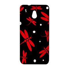 Red, black and white dragonflies HTC One Mini (601e) M4 Hardshell Case