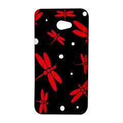 Red, black and white dragonflies HTC Butterfly S/HTC 9060 Hardshell Case