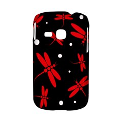Red, black and white dragonflies Samsung Galaxy S6310 Hardshell Case