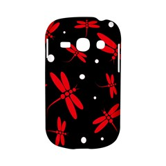Red, black and white dragonflies Samsung Galaxy S6810 Hardshell Case
