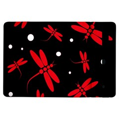 Red, black and white dragonflies iPad Air Flip