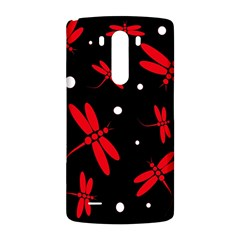 Red, black and white dragonflies LG G3 Back Case