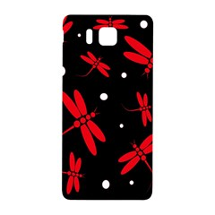 Red, black and white dragonflies Samsung Galaxy Alpha Hardshell Back Case