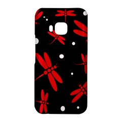 Red, black and white dragonflies HTC One M9 Hardshell Case
