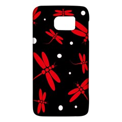 Red, Black And White Dragonflies Galaxy S6