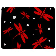 Red, Black And White Dragonflies Jigsaw Puzzle Photo Stand (rectangular)