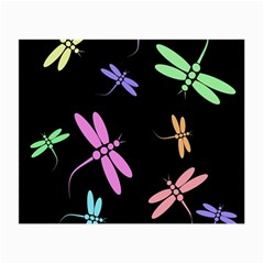 Pastel dragonflies Small Glasses Cloth