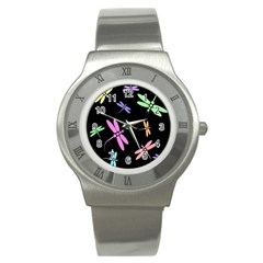 Pastel dragonflies Stainless Steel Watch
