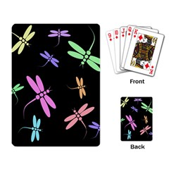 Pastel dragonflies Playing Card