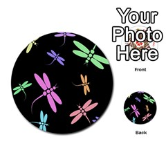 Pastel dragonflies Multi-purpose Cards (Round)