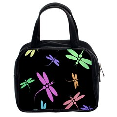 Pastel dragonflies Classic Handbags (2 Sides)