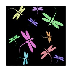Pastel dragonflies Face Towel