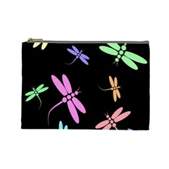 Pastel dragonflies Cosmetic Bag (Large)