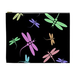 Pastel dragonflies Cosmetic Bag (XL)