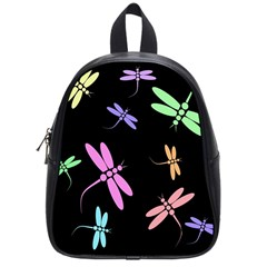 Pastel dragonflies School Bags (Small)