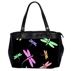 Pastel dragonflies Office Handbags (2 Sides)