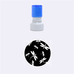 Pastel dragonflies Rubber Round Stamps (Small)