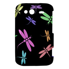 Pastel dragonflies HTC Wildfire S A510e Hardshell Case