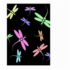 Pastel dragonflies Large Garden Flag (Two Sides)