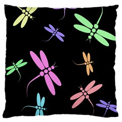 Pastel dragonflies Large Cushion Case (One Side)