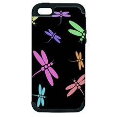 Pastel dragonflies Apple iPhone 5 Hardshell Case (PC+Silicone)