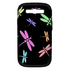 Pastel dragonflies Samsung Galaxy S III Hardshell Case (PC+Silicone)