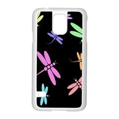 Pastel dragonflies Samsung Galaxy S5 Case (White)