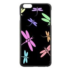 Pastel dragonflies Apple iPhone 6 Plus/6S Plus Black Enamel Case