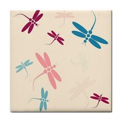 Pastel Dragonflies  Tile Coasters