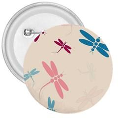 Pastel dragonflies  3  Buttons