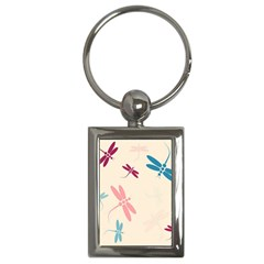 Pastel dragonflies  Key Chains (Rectangle)