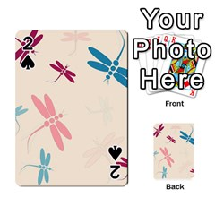 Pastel dragonflies  Playing Cards 54 Designs