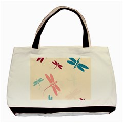 Pastel dragonflies  Basic Tote Bag