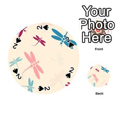 Pastel dragonflies  Playing Cards 54 (Round)