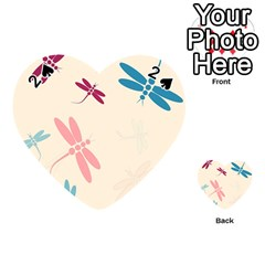 Pastel dragonflies  Playing Cards 54 (Heart)