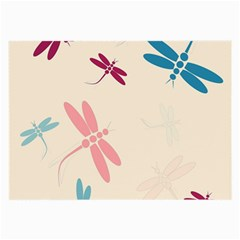 Pastel dragonflies  Large Glasses Cloth