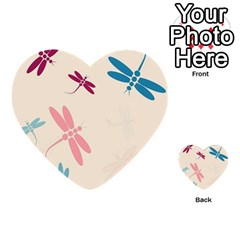 Pastel dragonflies  Multi-purpose Cards (Heart)