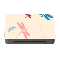 Pastel dragonflies  Memory Card Reader with CF
