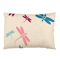 Pastel dragonflies  Pillow Case (Two Sides)