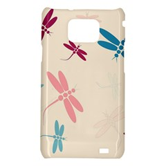 Pastel dragonflies  Samsung Galaxy S2 i9100 Hardshell Case
