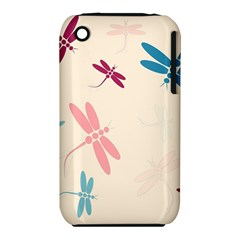 Pastel dragonflies  Apple iPhone 3G/3GS Hardshell Case (PC+Silicone)