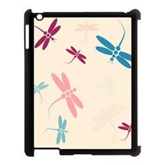 Pastel dragonflies  Apple iPad 3/4 Case (Black)