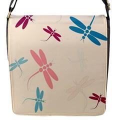 Pastel dragonflies  Flap Messenger Bag (S)
