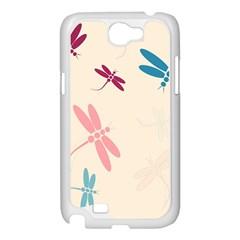 Pastel dragonflies  Samsung Galaxy Note 2 Case (White)