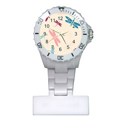Pastel dragonflies  Plastic Nurses Watch