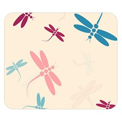 Pastel dragonflies  Double Sided Flano Blanket (Small)