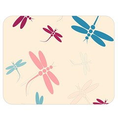Pastel dragonflies  Double Sided Flano Blanket (Medium)