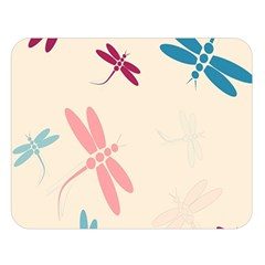 Pastel dragonflies  Double Sided Flano Blanket (Large)