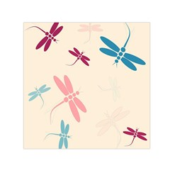 Pastel dragonflies  Small Satin Scarf (Square)